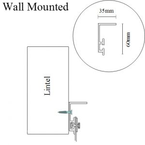 Plastic Strip Door Mounting Wall
