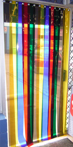 Coloured Strip Doors Coloured Door Strips Coloured