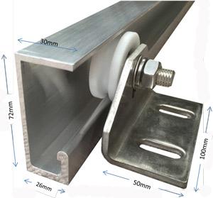 CP-ALU-TTR49- Coldroom Sliding Door Top Aluminium Track | www ... on